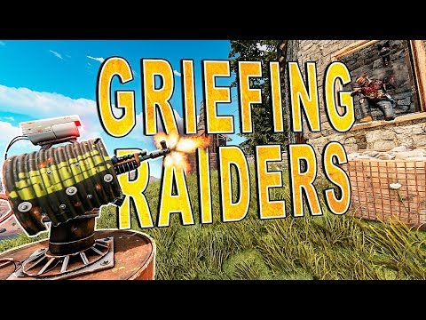 Griefing EDGY RAIDERS While DDOSED by Cheaters!   RUST (видео)