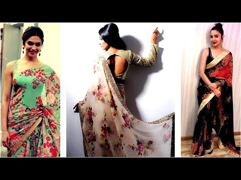 latest floral saree designs//current fashion in sarees 2017 \ Fashion Alert of 2017