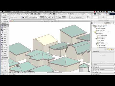 ArchiCAD Tutorial | How To Model Roofs – In Depth Tutorial For A Wide Variety Of Roof Types