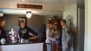 Military Dad Comes Home, Surprises Kids at Family Dinner!