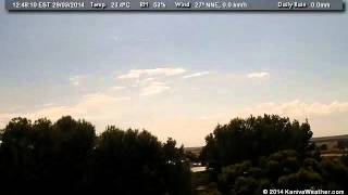 29 March 2014 - North Facing WeatherCam Timelapse - KanivaWeather.com