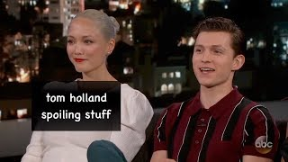 tom holland spoiling stuff for 4 minutes straight