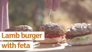 Lamb burger with Feta