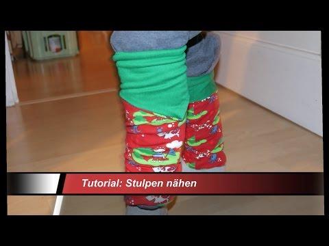 Anleitung und Schnitt zum Nähen : Jersey Stulpen / Nähen für Anfänger Ostern