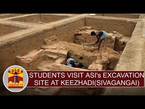 History-students-visit-ASIs-excavation-site-at-Keezhadi-Sivagangai--Thanthi-TV
