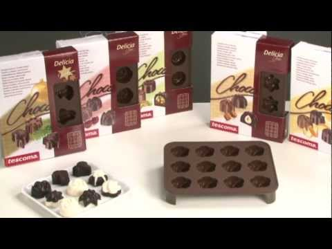 Видео Формочки для шоколада Tescoma Формочки для шоколада DELICIA SILICONE, Рождественские мотивы Tescoma 629372