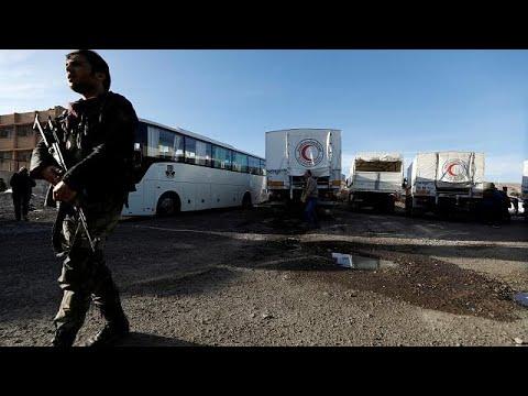 Αντικαθεστωτικοί παραδόθηκαν στις αρχές – Συνεχίζεται το σφυροκόπημα στην Ανατολική Γούτα…