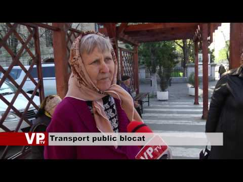 Transport public blocat
