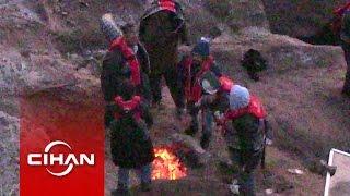 İşte Adada mahsur kalan kaçakların kurtarılma anı