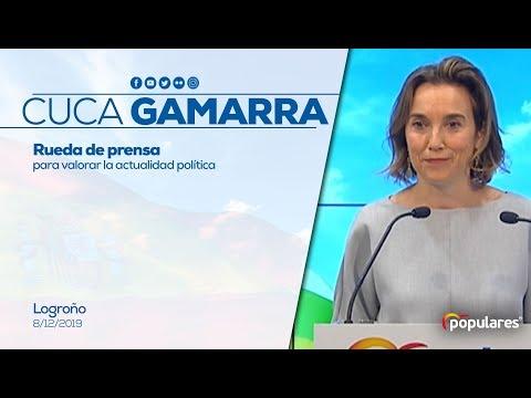 Cuca Gamarra ofrece una rueda de prensa para valor...