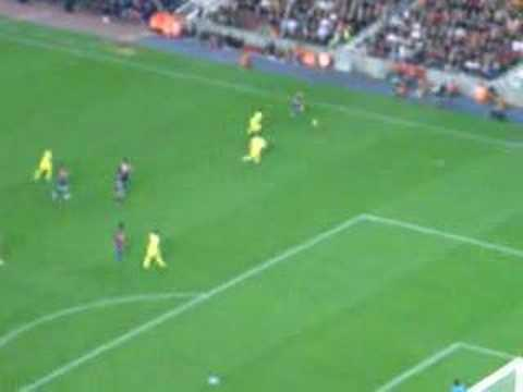 Ronaldinho Best Goal ever Barcelona vs. Villareal 4-0