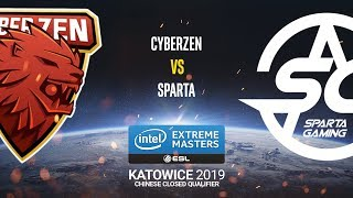 CyberZen vs. Sparta - IEM Katowice 2019 Closed Minor China QA - map2 - de_overpass [SSW]