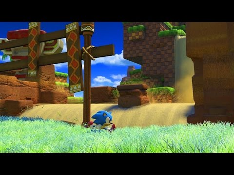 Sonic Forces | Classic Sonic - Green Hill Zone Gameplay (видео)