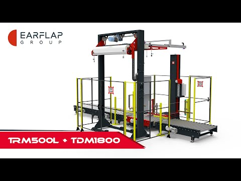 The TRM500L pallet wrapper in action