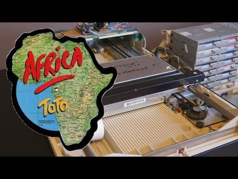 The Song  Africa  by Toto Played on 64 Floppy Drives 8 Hard Drives and 2