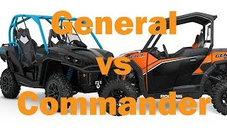 1. Polaris General 1000 vs Can Am Commander 1000