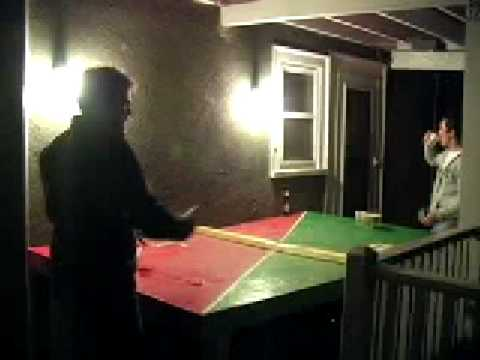Travis Pounds Beer During Pong Game
