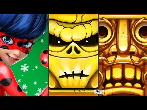 Miraculous Ladybug & Cat Noir 🐞 Vs Zombie Run HD 🧟 Vs Temple Run 2 👨🚀 LANTERN FESTIVAL!