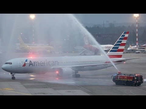 American Airlines - This was the first American Airlines Boeing 767 flight between Chicago and Dsseldorf. Only 108 people flew with this B 767 which is definitly not a good loa...