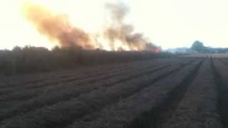 Port Allen (LA) United States  city images : Burning sugarcane in Port Allen Louisiana