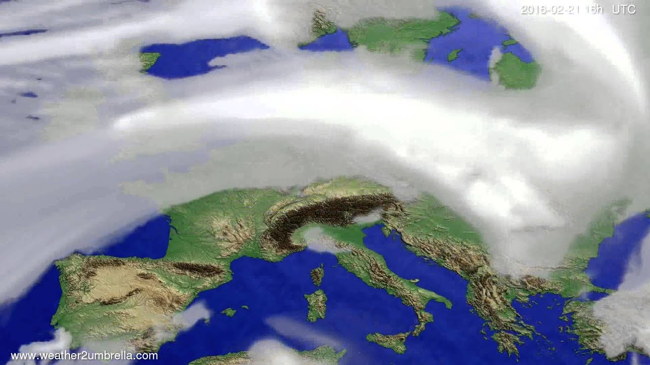 Cloud forecast Europe 2016-02-18