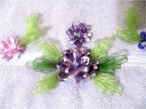 come realizzare dei fiori in rilievo con i nastri in raso - tutorial