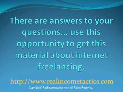 Best Way to Make Money Online Working from Home using Internet Freelancing.wmv