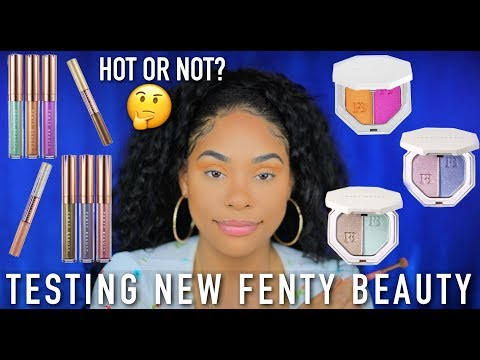 TESTING OUT NEW FENTY BEAUTY BEACH PLEASE COLLECTION | BUY OR BYE?