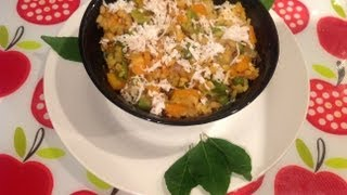 Carrot, Beans,muttakos Poriyal