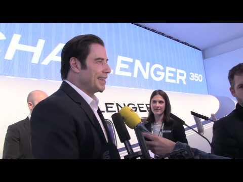John Travolta - Find out more at http://www.flightglobal.com/ebace.