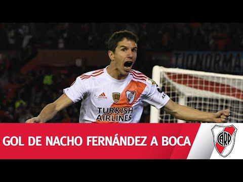 PASE, CENTRO Y DEFINICIÓN. Nacho Fernández ponía el 2-0 frente a Boca.