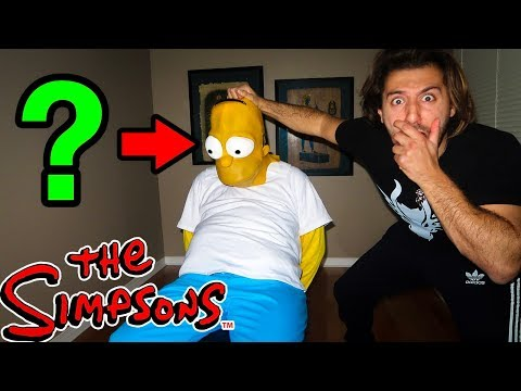 (OMG) UNMASKING HOMER SIMPSON AT 3AM | HOMER SIMPSON CAME TO MY HOUSE AND I CAPTURED HIM AT 3AM