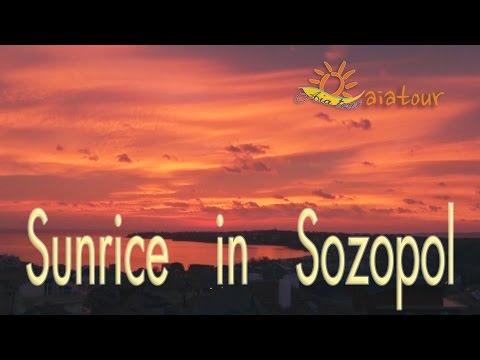 Sunrise in Sozopol - hotel Bobchev / Sonnenaufgang in Sozopol