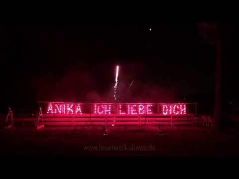 Pyrotechnischer Heiratsantrag in Berlin beim Seehotel Grunewald am 16.11.2017