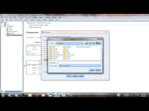 How to change a table to APA style in SPSS