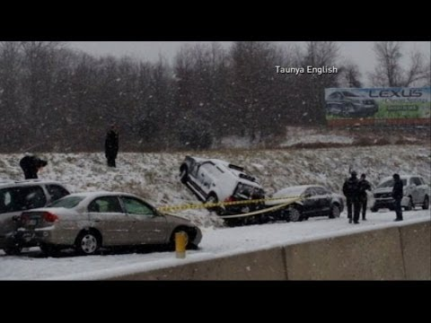 weather - Ice storm hits the East Coast; drivers face hazardous travel conditions.