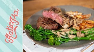 Chris Baber X The Perfect Steak & Mushroom Sauce Recipe | Katie Pix by Katie Pix