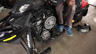 8. How to do a oil change on a 1200 4-tec Ski-Doo
