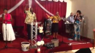 Time of offering the 14/09/2014 at New life in Christ churc