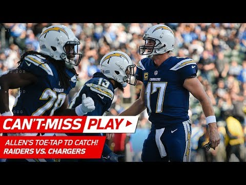 Video: Keenan Allen's Amazing Toe-Tap TD Catch vs. Oakland! | Can't-Miss Play | NFL Wk 17 Highlights