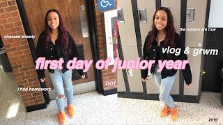 first day of school grwm + vlog | JUNIOR YEAR (kinda nervous tbh)