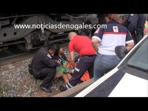 Sufre mujer amputación en un pie al ser impactada por el tren