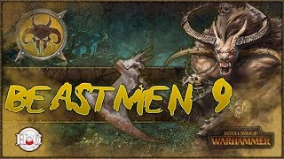 """Total War Warhammer - Beastmen Campaign - 9Did Sigvald just sack a settlement without my permission? Time to get this herd after the pretty boy. Enjoy!MSI:https://us.msi.com/#DragonSquadLike my new Channel branding? Check out https://twitter.com/hforhavocSomething stirs in the deep dark forests of The Old World. Between the twisted trunks, the Beastlords grow restless with an all-consuming battle-thirst. They gather to them great Warherds of barbarous, bestial fiends, forged in the Time of Chaos; dark amalgams of human intelligence, animal cunning and raw, reckless ferocity. http://store.steampowered.com/app/404012/""""Our rules have changed. The only constant is WAR!The Old World echoes to the clamour of ceaseless battle… A fantasy strategy game of legendary proportions, Total War: WARHAMMER combines an addictive turn-based campaign of epic empire-building with explosive, colossal, real-time battles, set in the brooding and bloody world of Warhammer Fantasy Battles.Command four wholly different races: the Empire, the Dwarfs, the Vampire Counts and the Greenskins, each with their own unique characters, battlefield units and play style.Lead your forces to war as one of eight Legendary Lords from the Warhammer Fantasy Battles World, arming them with fabled weapons, armour and deadly battle magic; hard-won in individual quest chains.For the first time in a Total War game, harness storms of magical power to aid you in battle and take to the skies with flying creatures, from ferocious dragons and wyverns to gigantic griffons.Hundreds of hours of gameplay await you at the dawn of a new era. Total War: WARHAMMER brings to life a world of legendary heroes, towering monsters, flying creatures, storms of magical power and regiments of nightmarish warriors.""""Thank you to Sega and Creative Assembly for allowing me to have a review copy and post this video. For official news and videos please see the links below. This video doesn't represent any official news or opinions. Official W"""