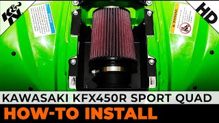 7. 2008 and 2009 Kawasaki KFX450R Sport Quad Air Intake