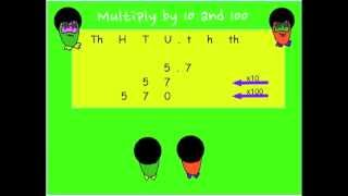 The Number Crunchers explain a method of how to multiply by 10 and 100.
