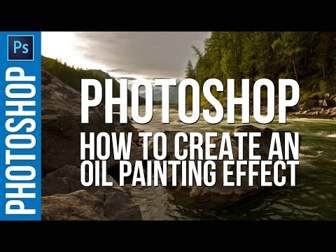 How To Create And OIL PAINTING Effect In Photoshop CC