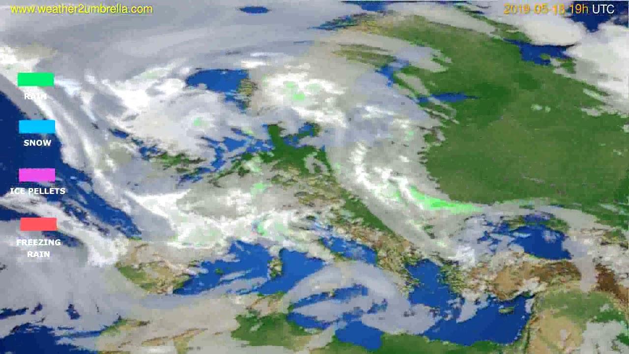 Precipitation forecast Europe // modelrun: 12h UTC 2019-05-15