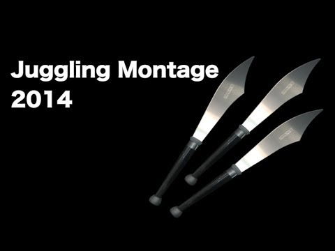 Juggling Montage 2014 Knives, Balls, And Clubs