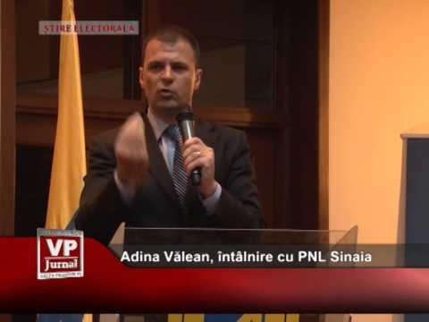 Adina Vălean, întâlnire cu PNL Sinaia