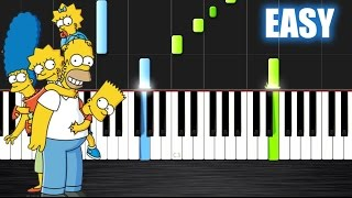 The Simpsons Theme - EASY Piano Tutorial  Ноты и МИДИ (MIDI) можем выслать Вам (Sheet music for pian